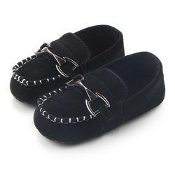 TongYouYuan Nouveau-Né Bébé Garçons Enfants Chaussures Lit Bebe Infantile En Bas Âge Classique En Métal de Mode Boucle Première Marcheurs Mocassins Prewalkers