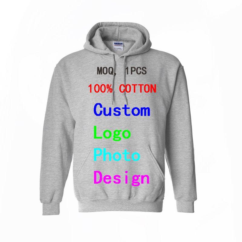 Custom Logo Photo Text Printed Hoodies Sweatshirts Men Women Pullover Tops Men's Hooded Hoody Drop Shipping Wholesalers Supplier