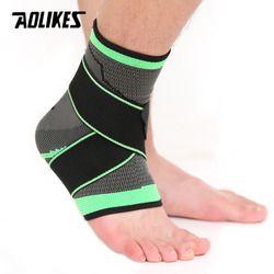 AOLIKES 1 PCS 3D Weben Elastischen Nylon Strap Ankle Unterstützung Klammer Badminton Basketball Fußball Taekwondo Fitness Ferse Protector