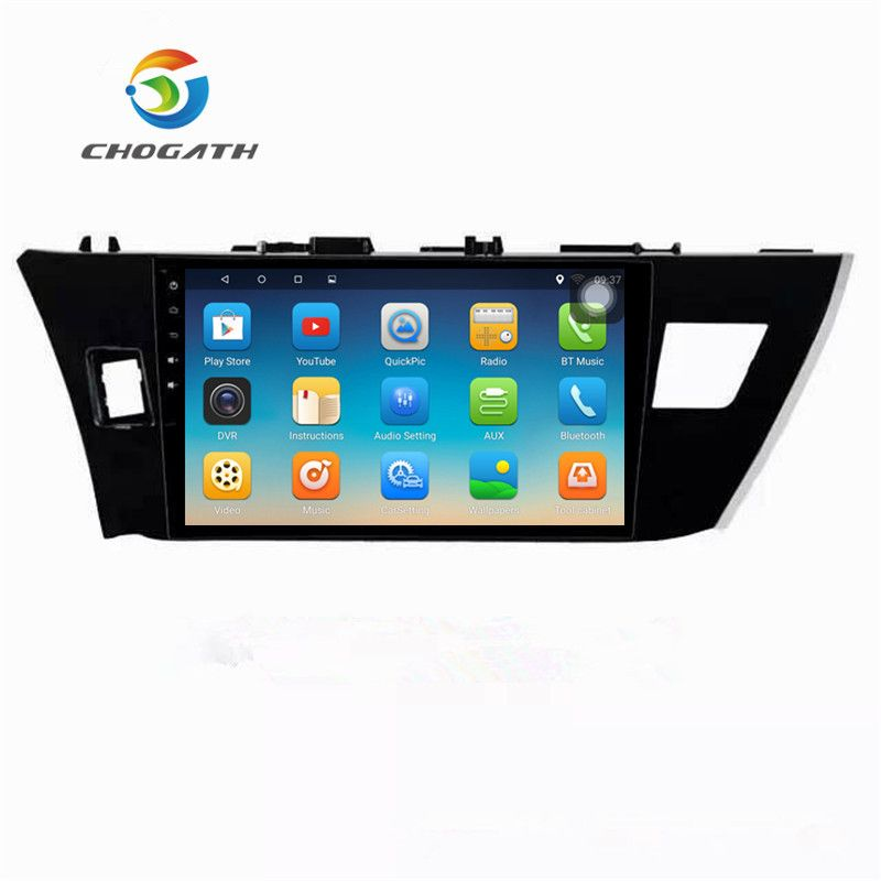 ChoGath 10.2'' 1.6GHz Quad Core 2GB RAM Android 7.0 Car Radio GPS Navigation Player for Toyota Corolla 2014 2015 with Canbus
