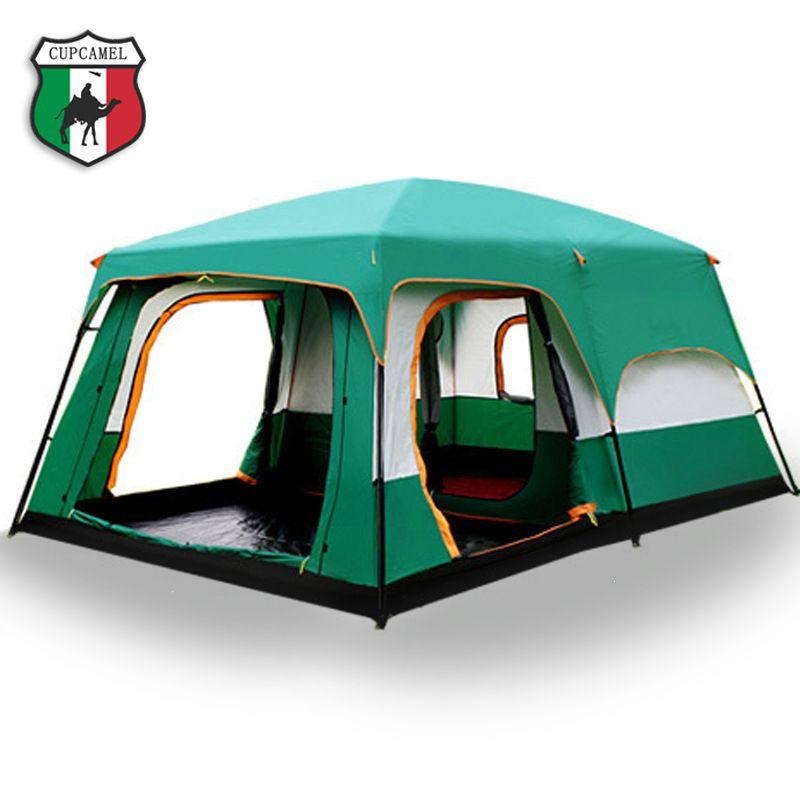 Die kamel im freien Neue große raum camping ausflug zwei schlafzimmer zelt ultra-große hight qualität wasserdichte camping zelt Kostenloser verschiffen