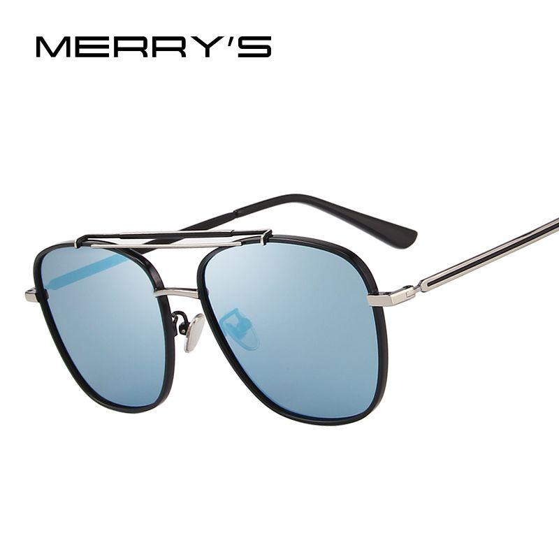 MERRY'S DESIGN Men Polarized Square Sunglasses Fashion Male Eyewear 100% UV Protection S'8180