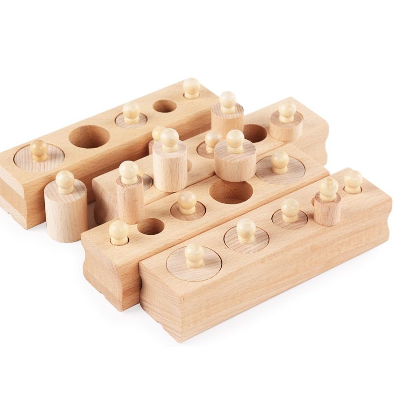 Wooden Montessori Educational Toy Cylinder Block Montessori Materials Sensorial Montessori Baby Toys Brinquesdos Juguest UC1366H