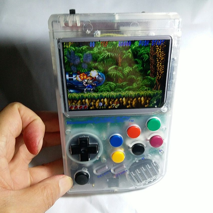Raspberry Pi gameboy handheld game console with Super HD IPS LCD /Shock joystick/ 64G need Production cycle available 10~20 days