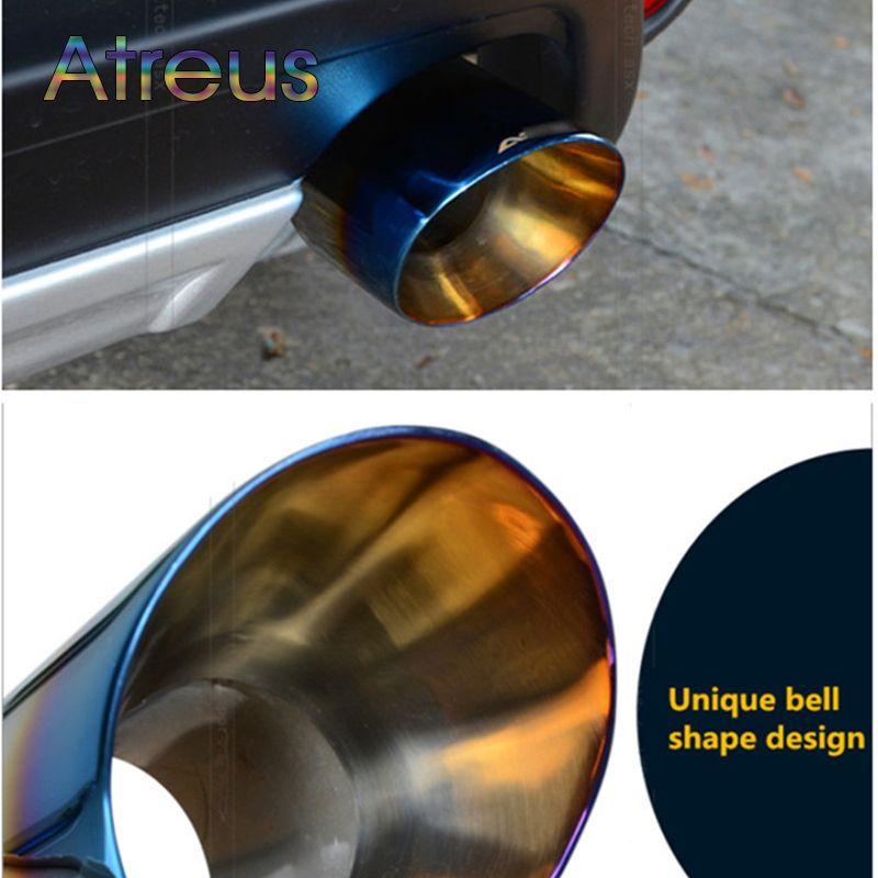 Atreus 1 pièces pour Mitsubishi ASX 2011 2012 2013 2014 acier inoxydable couverture de tuyau d'échappement de voiture tuyau d'échappement voiture-accessoires spéciaux