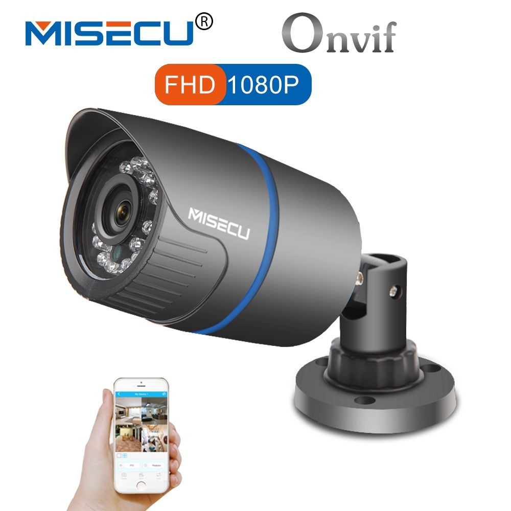 MISECU 2.8mm wide IP Camera 1080P 960P 720P <font><b>ONVIF</b></font> P2P Motion Detection RTSP email alert XMEye 48V POE Surveillance CCTV Outdoor