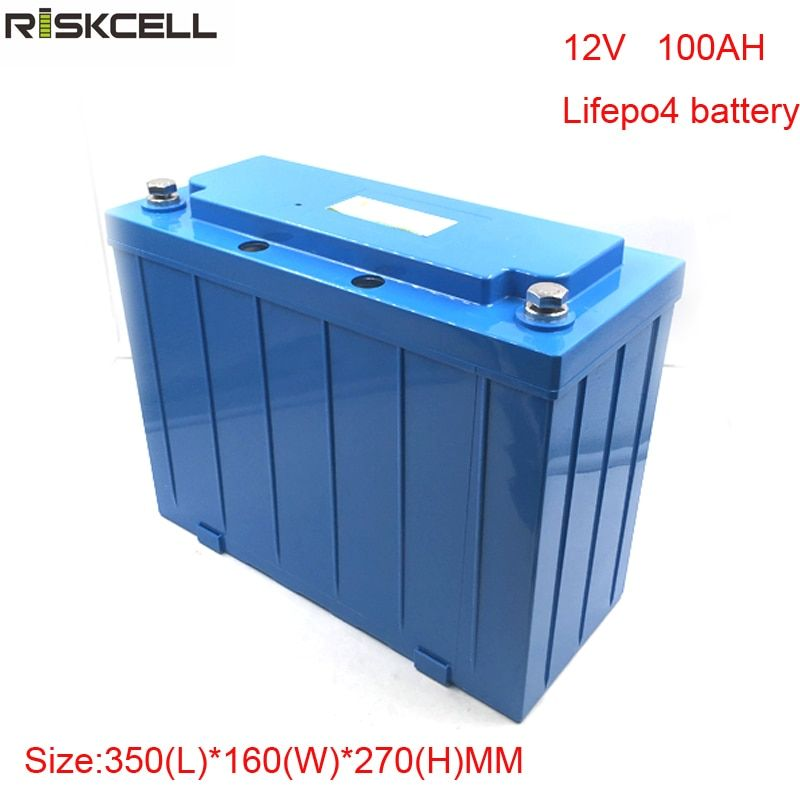 No taxes deep cycle solar battery E-Wheelchair E-motor EV 12v 100ah lifepo4 battery