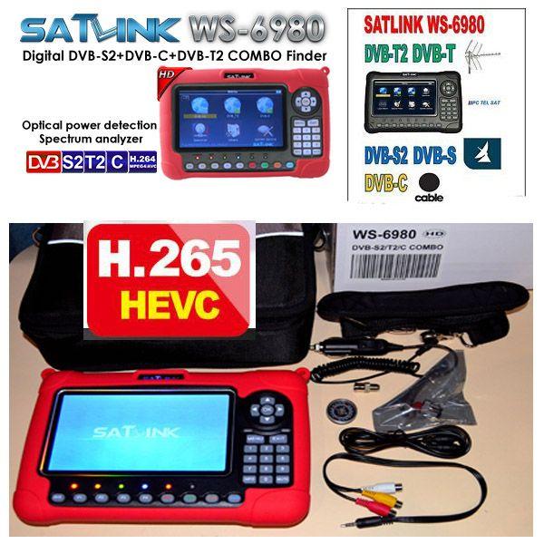 Combo finder satlink ws6980 DVB-S2/C + DVB-T2 COMBO Optische erkennung Spektrum satellite finder meter satlink ws-6980