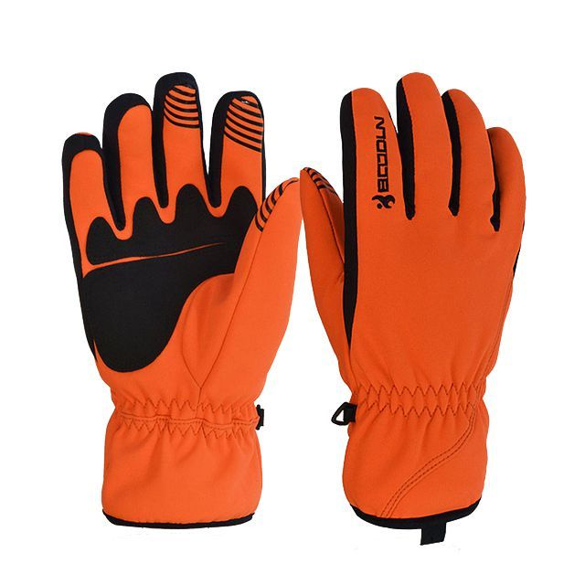 Boodun Unisex Winter Warm Windproof Waterproof Skiing Snowboard Glove Motorcycle Riding Gloves Outdoor Sport Gloves Orange