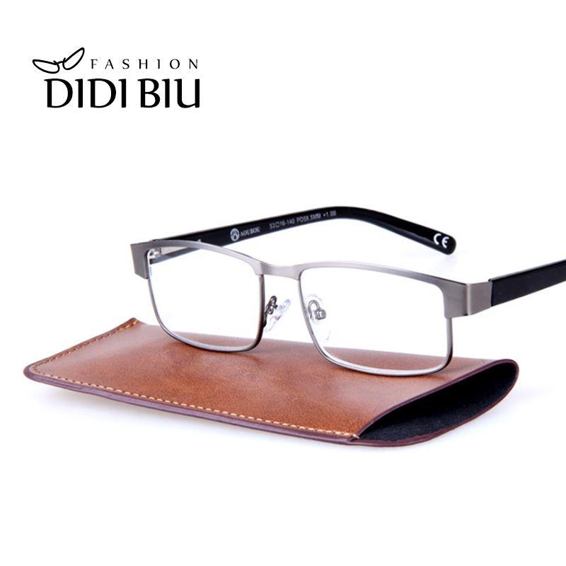 DIDI lunettes de lecture à jante complète pour hommes lunettes de vue en métal optique myopie presbyte Diopters 1.0 1.5 2.0 2.5 3.0 3.5 H630