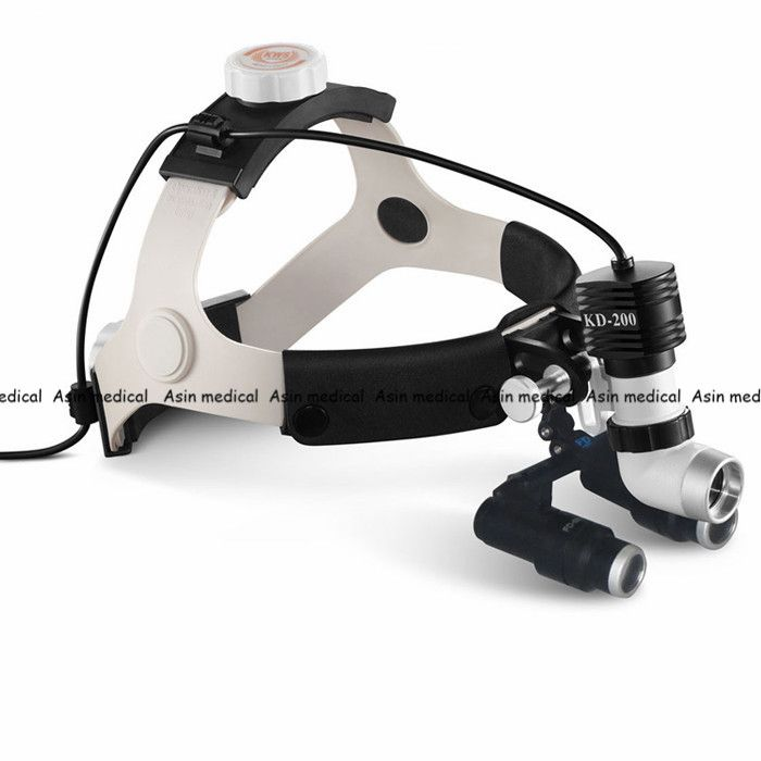 High Quality 2017 New 5W LED Surgical Head Light dental Lamp All-in-Ones Headlight with loupes 4.0X ,5.0X , 6.0X , 6.5X