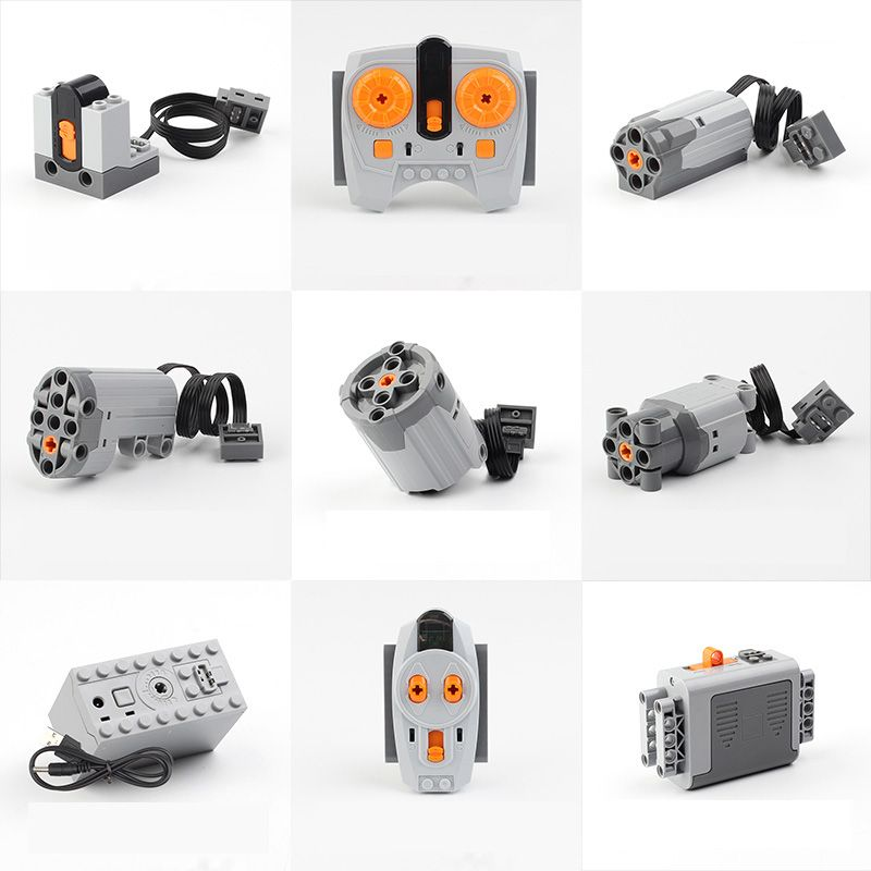 LEPIN Technic Power Functions Motor Train Motor Set IR RX TX Servo Battery Box Blocks Toys Compatible LegoINGs lepin 20004 20001