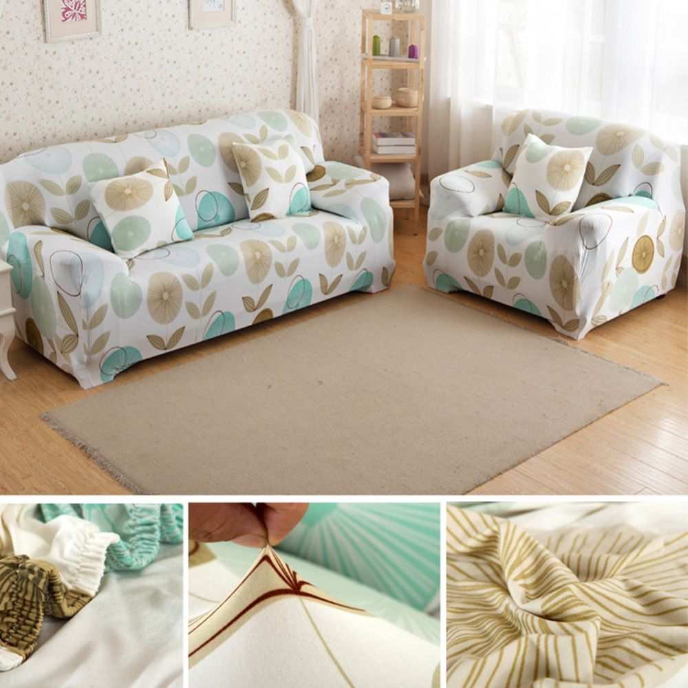 Stripe Circle Sofa <font><b>Cover</b></font> Tight Wrap Slipcovers All-inclusive Anti-Slip Elastic Sofa <font><b>Covers</b></font> Stretchy Sofa Case for 1/2/3 Seater