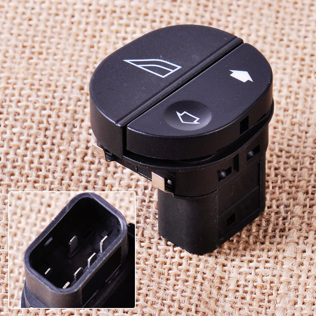 CITALL Passenger Side Electric Power Window Switch 96FG14529AC for Ford Fiesta Fusion Street KA Puma Transit MK7 Connect Tourneo