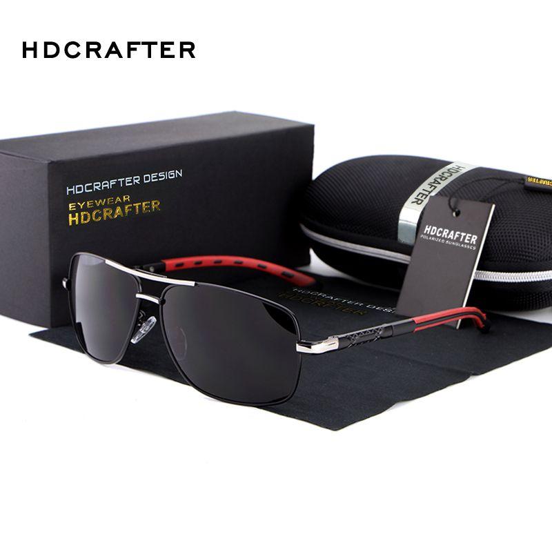 HDCRAFTER lunettes de soleil polarisées pour hommes conduisant Google marque Designer lunettes de soleil défendre revêtement gafas oculos de sol masculino