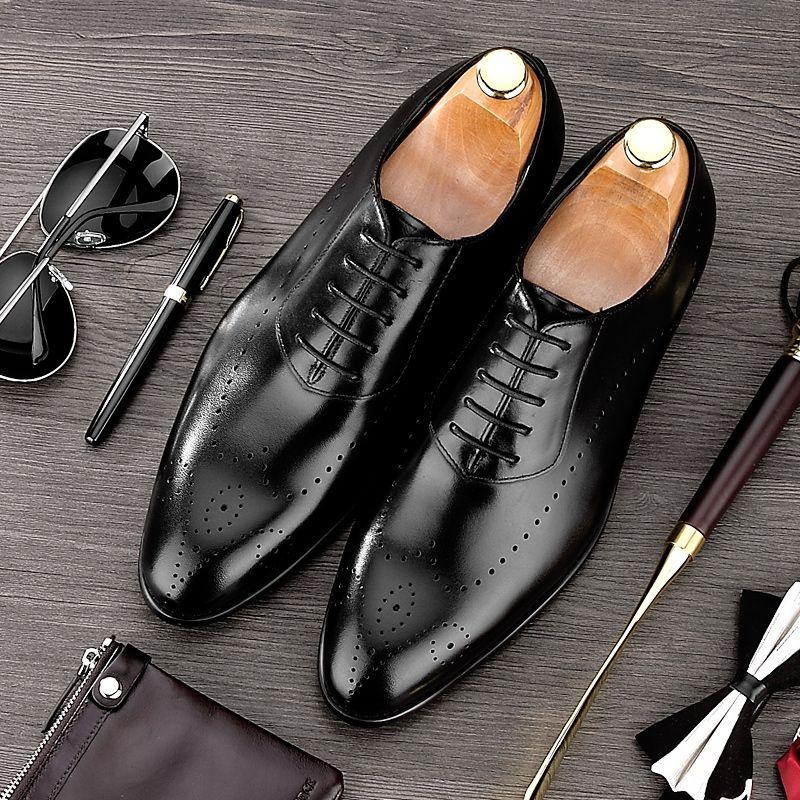Летние британский стиль острый носок Резные Человек Представительская обувь Пояса из натуральной кожи Обувь шнурованная для женщин Для му...