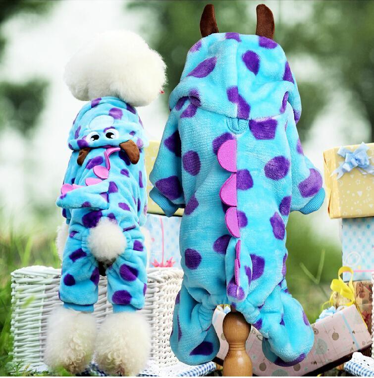 Polaire douce chien chat combinaison Halloween manteau Costumes salopette pour animaux chiot chat vêtements pour petit chat chien Pet