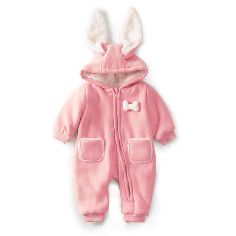 Для малышей Зимние хлопковые Плюшевые Зимний комбинезон на молнии Дизайн новорожденных для маленьких девочек Одежда для мальчиков зимний ...
