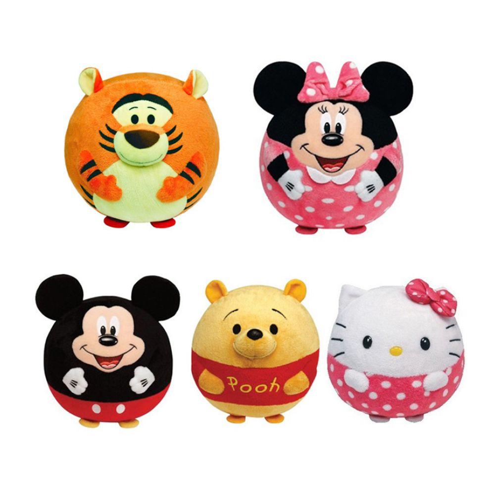 1 unids Bebé Sonajero de Dibujos Animados Juguetes Animales Campanas de Mano de Hello Kitty Minnie Handbell Bola de Peluche Lleno De Esponja de Alta Calidad