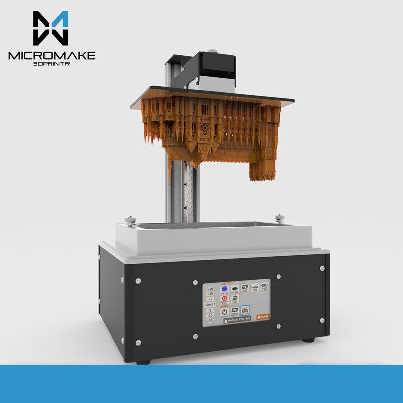 new Micromake L4 UV SLA/LCD/DLP 3D printer printing size 190*120*225mm Suitable for dentistry Jewelry