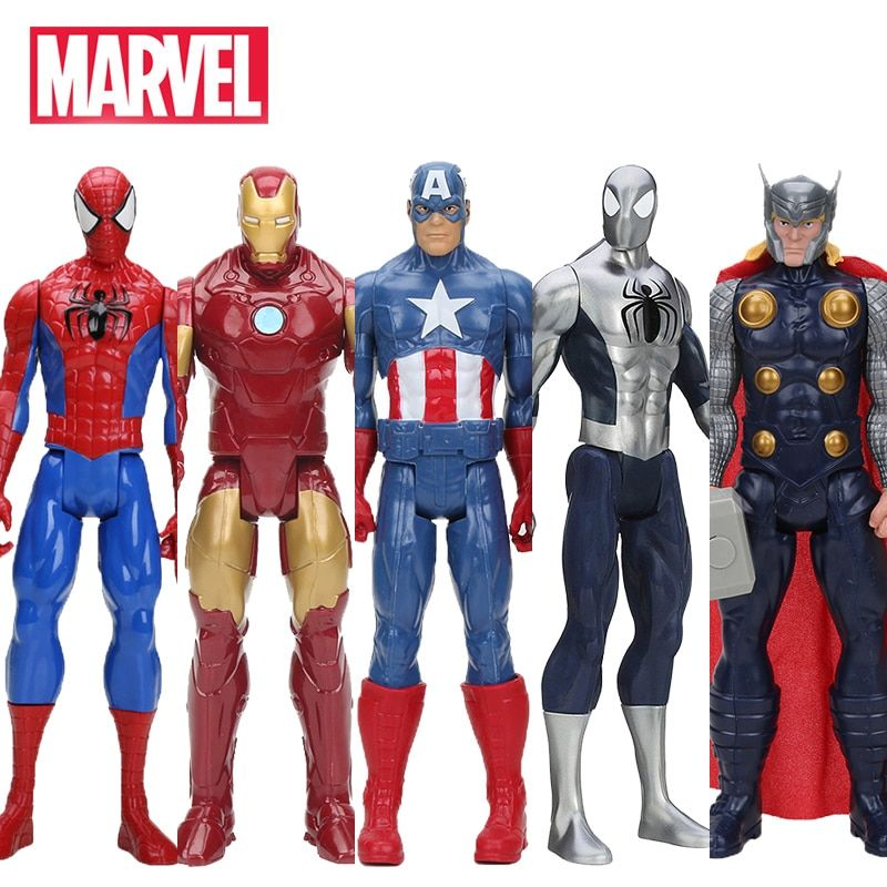 Hasbro Marvel Jouets Le Avenger 30 cm Super Hero Thor Captain America Wolverine Spider Man Iron Man Action PVC Figure jouet Poupées