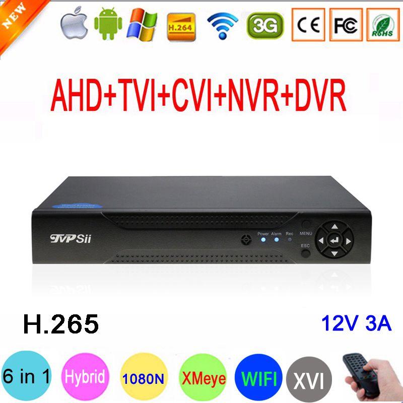 1080P/960P/720P/960H CCTV Camera XMeye Hi3521D H.265 16 Channel 16CH 1080N 6 in 1 Hybrid Wifi TVi CVI NVR AHD DVR Video Recorder