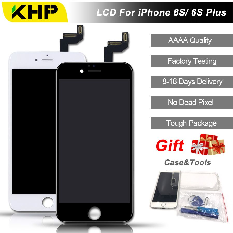 2018 100% Original KHP AAAA Screen LCD For iPhone 6S Plus Screen LCD Replacement Screen IPS Display Touch Quality 6S Plus LCDS