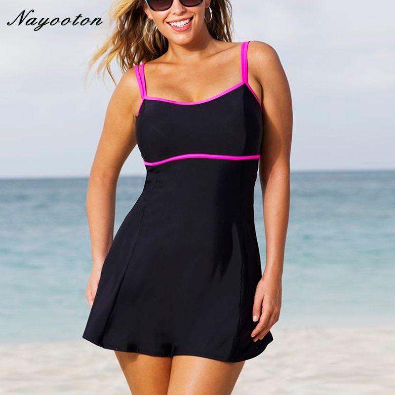 One Piece Swimsuit 2017 Swim Skirt Swimwear Plus Size Thong Bathing Suit Brazilian Women Swimming Wear Push Up Vintage Monokini