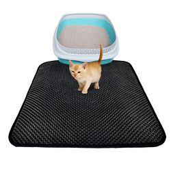 Arena para gatos Trapper estera impermeable plegable nido tamizado Pad proteja piso y alfombra ecológico espuma EVA peso ligero