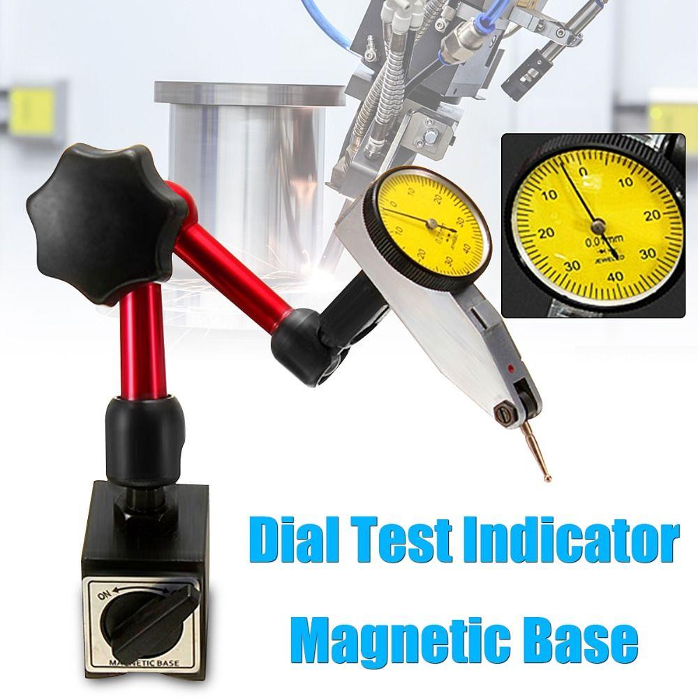 Nouvelle Mini Universelle Flexible Cadran Indicateur de Test Support de Base Magnétique Stand Magnétique Correction Jauge Stand Indicateur Outil