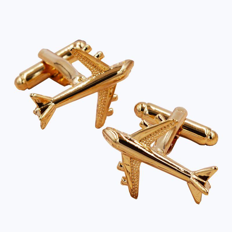 Лидер продаж Для Мужчин's Jewelry плоскости запонки Горячие продавца серебряный цвет Мода Серебряный самолет дизайн медь материал подарок