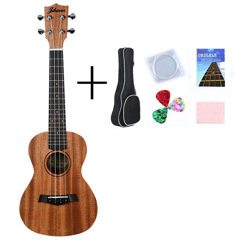 Ukulele Guitar 23'' Fingerboard Rosewood Back/Side Mahogany 4 Strings 18 Fret With Part Accessories DIY Soprano Ukelele Music