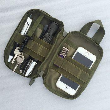 Waterproof Molle Tactical Waist Bag Unisex Outdoor Camping Hunting Nylon Bag Backpack Hanging Pocket Wallet Phone Keys Holder