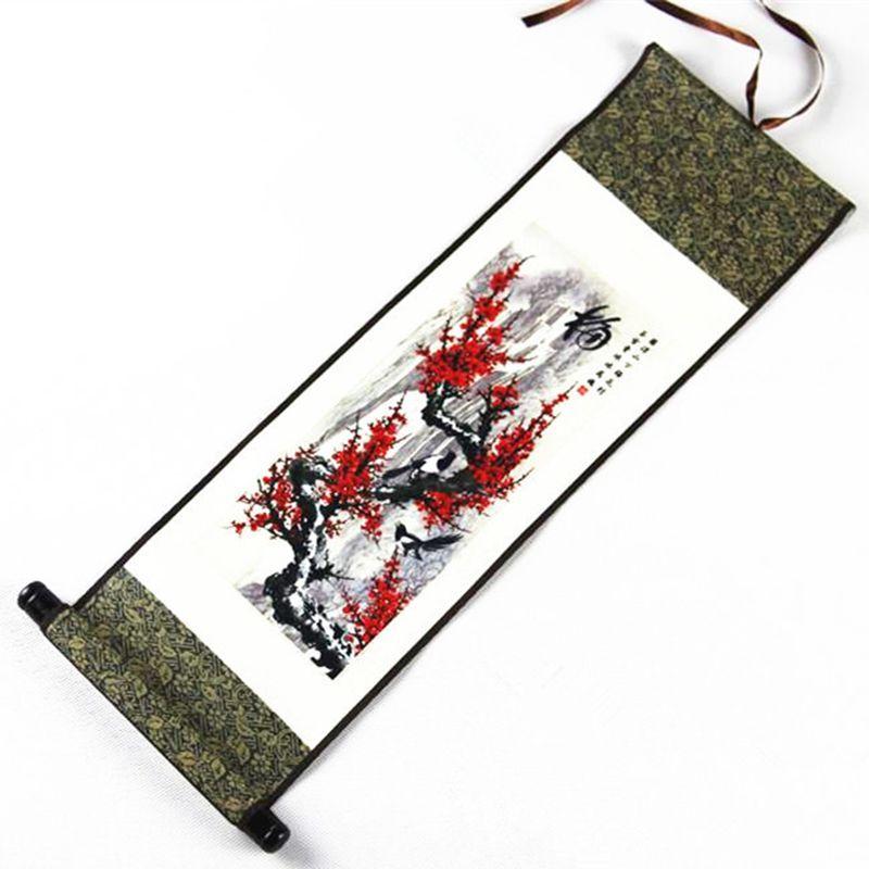 Style chinois encre soie défilement peinture salon mur photo décoration maison vent National fait main Art spécial cadeaux