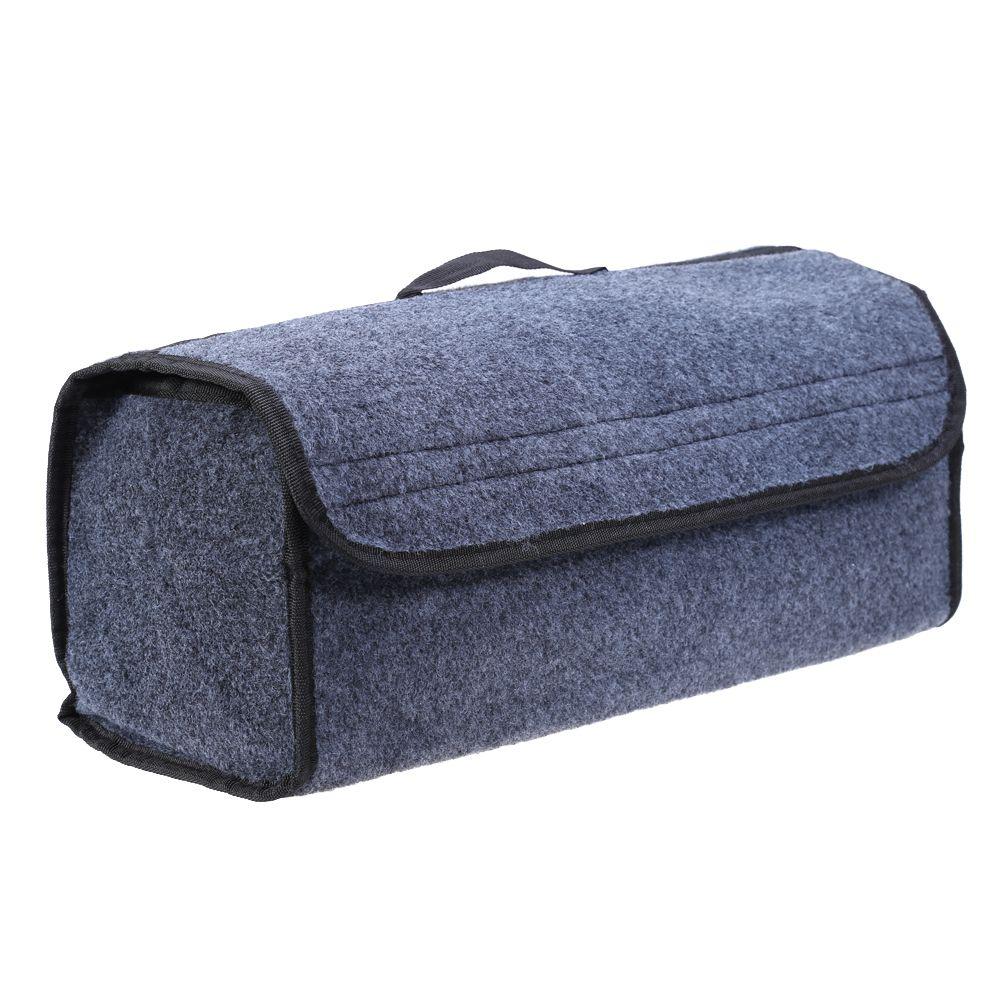 VODOOL Car Trunk Organizer Storage Bag Foldable Felt <font><b>Auto</b></font> Car Boot Organizer Storage Box Travel Luggage Tools Tidy Car Styling