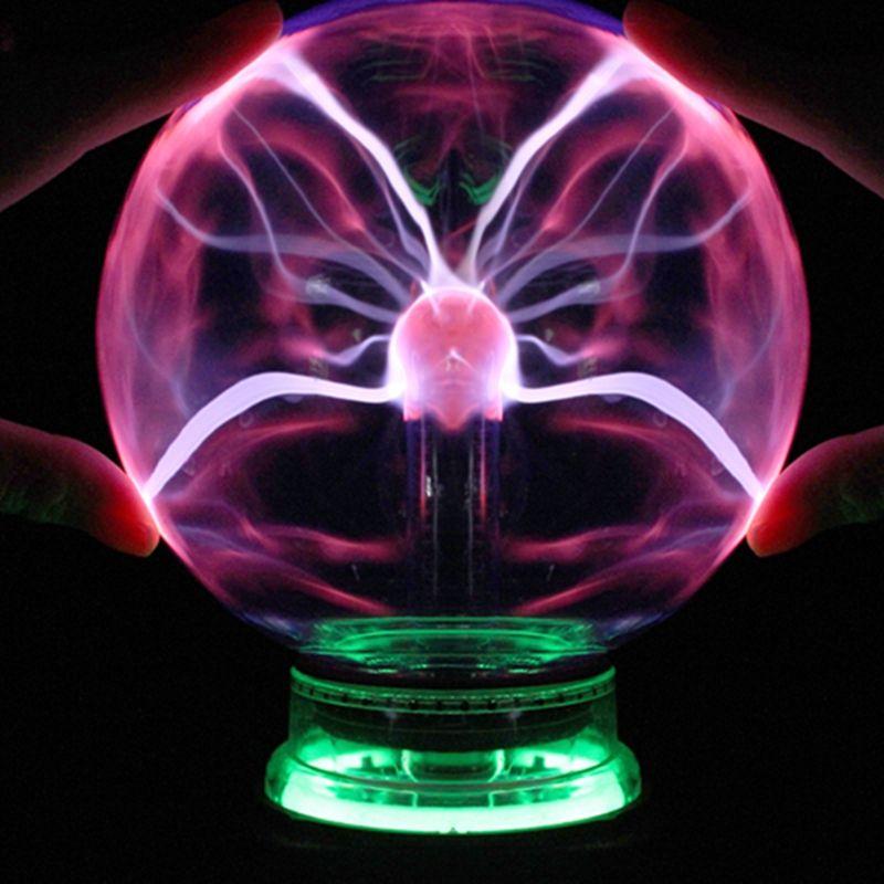 Новинка 3 4 5 6 дюймов Магия Плазменный Шар Стекло Рождество шары декоративные лава лампы для малыша огни touch Сенсор сфера ночник