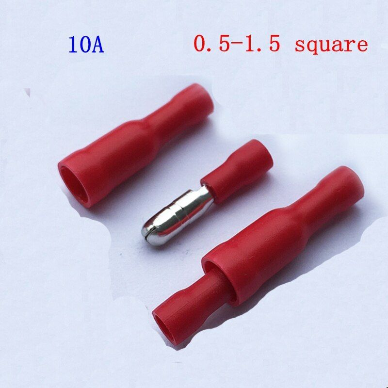 20pair/lot Bullet head FRD (MPD) 1.25-156 male and female full insulated terminal block plug terminal wire connector
