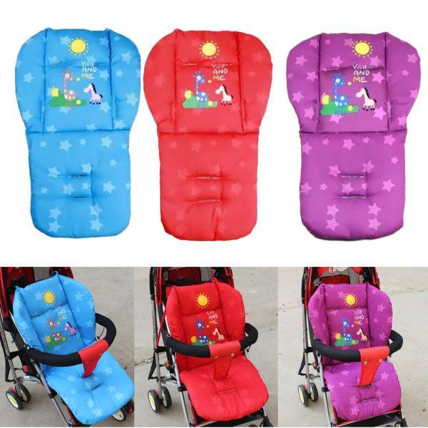 Акция для детской коляски Подушки заполнение лайнер 2017 последним Жираф коляски Автокресло Pad толстые коврики красные, синие фиолетовый