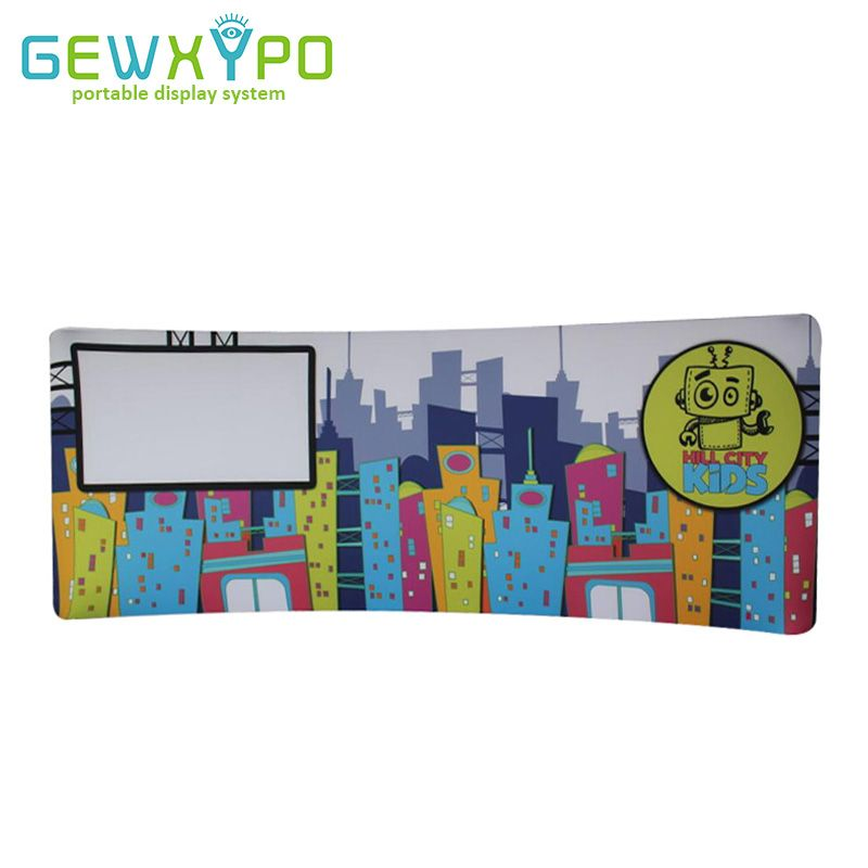 20ft*7.5ft Expo Booth Curved Tension Fabric Graphic Display Stand With Heat Transfer Printing,Portable Advertising Banner Wall
