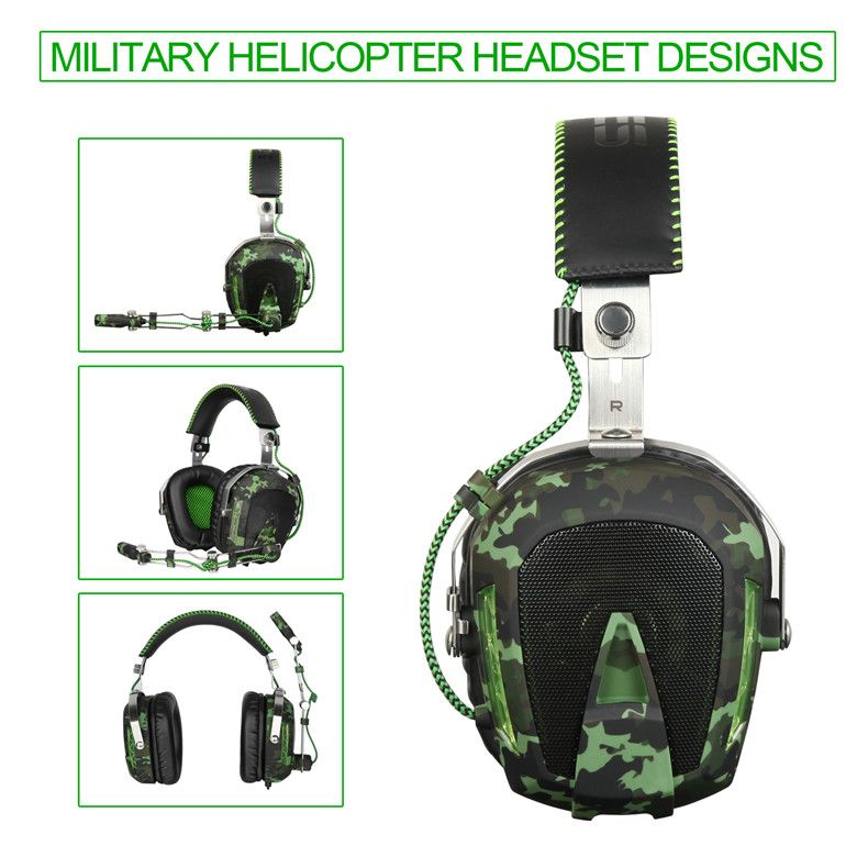 SADES SA926T 3.5mm Gaming Headset <font><b>Headphones</b></font> For Xbox One Mobile Phone Mac Laptop PC Camouflage