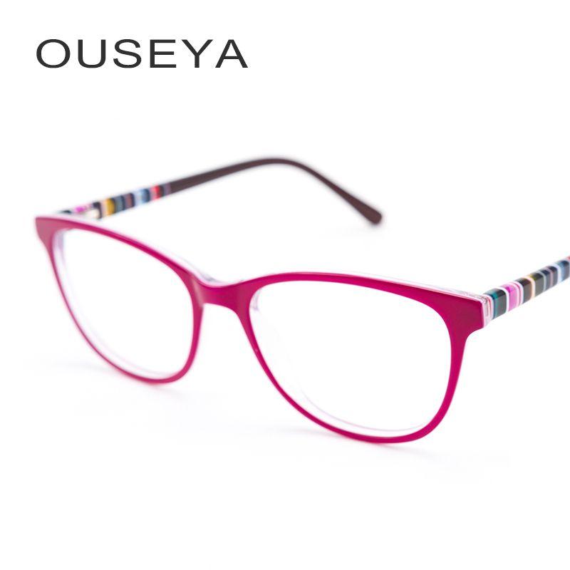 Ацетат очки Женщины Оптический Ретро близорукость с диоптрий линзы Асферические переход Компьютер Чтение очками # F1706
