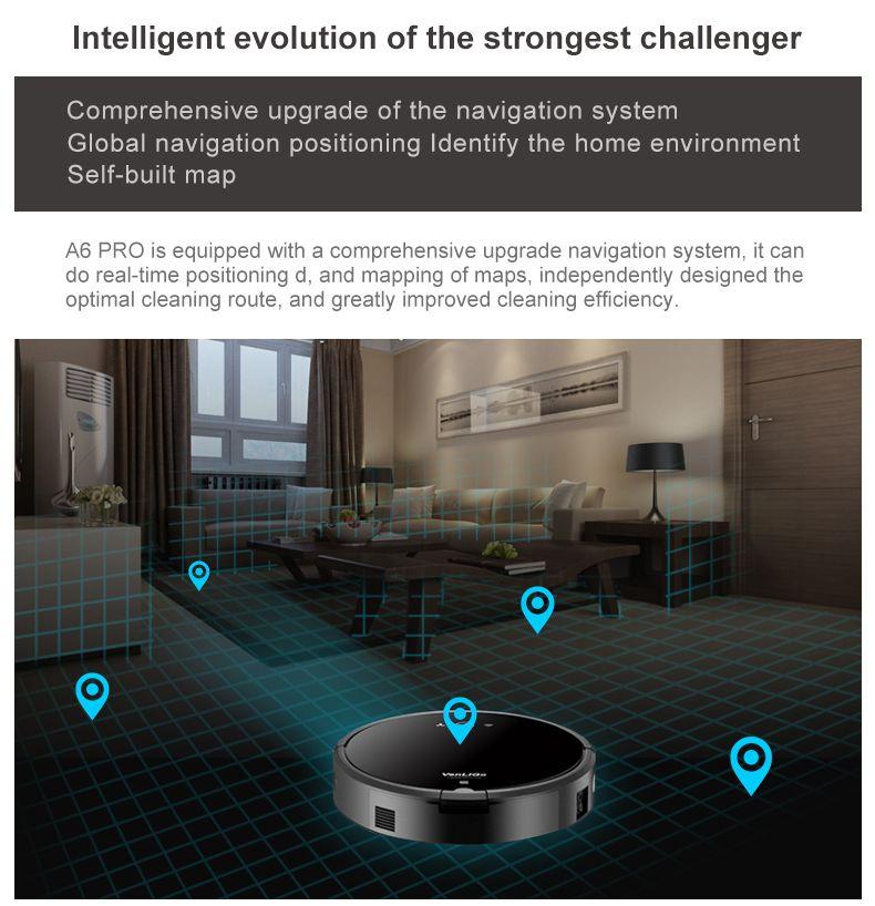 Smart Plan typ Roboter-staubsauger mit Wifi A6 Trocken und Nass Roboter-staubsauger für Zuhause
