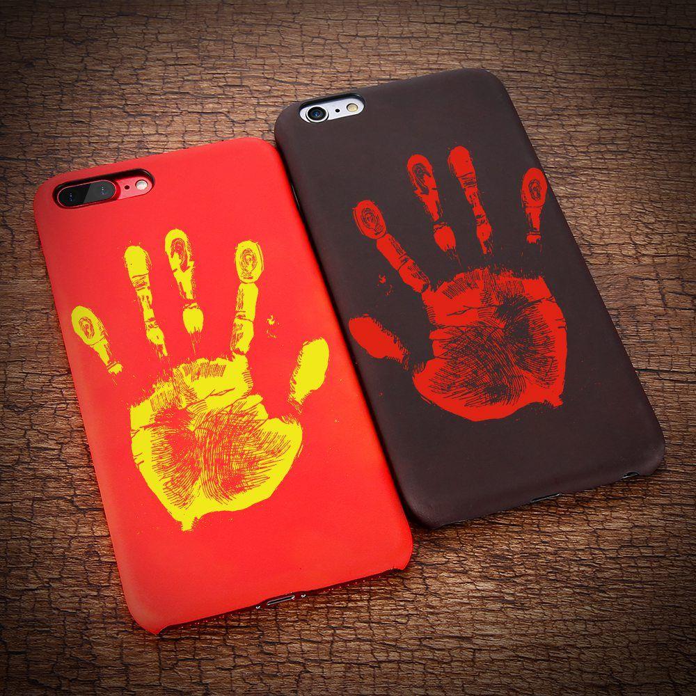KISSCASE Matte PC Temperatur Fall Für iPhone 6 6 S 7 8 Plus thermische Induktion Verfärbung Telefon Shell Für iPhone 5 5 s se X 10