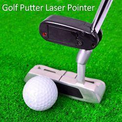 Black Golf Putter Laser Pointer Putting Training Aim Line Corrector Improve Aid Tool Practice Golf Accessories