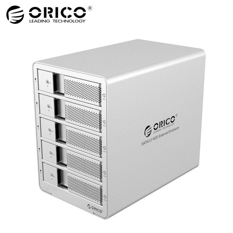 ORICO 9558U3 5-Bay 3,5 USB3.0 SATA Externe Box Gehäuse HDD Docking Station Fall für Festplatte Laptop PC (splitter)