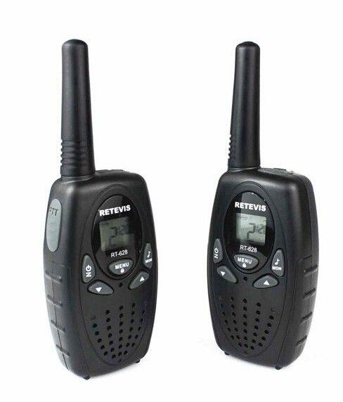 OPPXUN 2pcs Retevis RT628 Walkie Talkie Mini Portable Ham Radio 0.5W UHF 462-467MHz Two Way Ham Radio Communicator A1026A