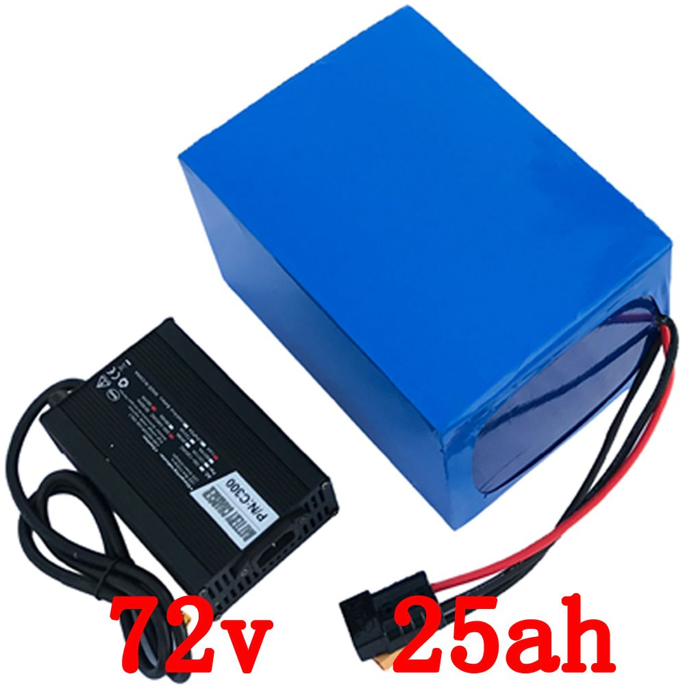 72V 3000W electric bike battery 72v 25ah electric bicycle battery 72v 25ah lithium ion battery with 50A BMS and 5A Charger