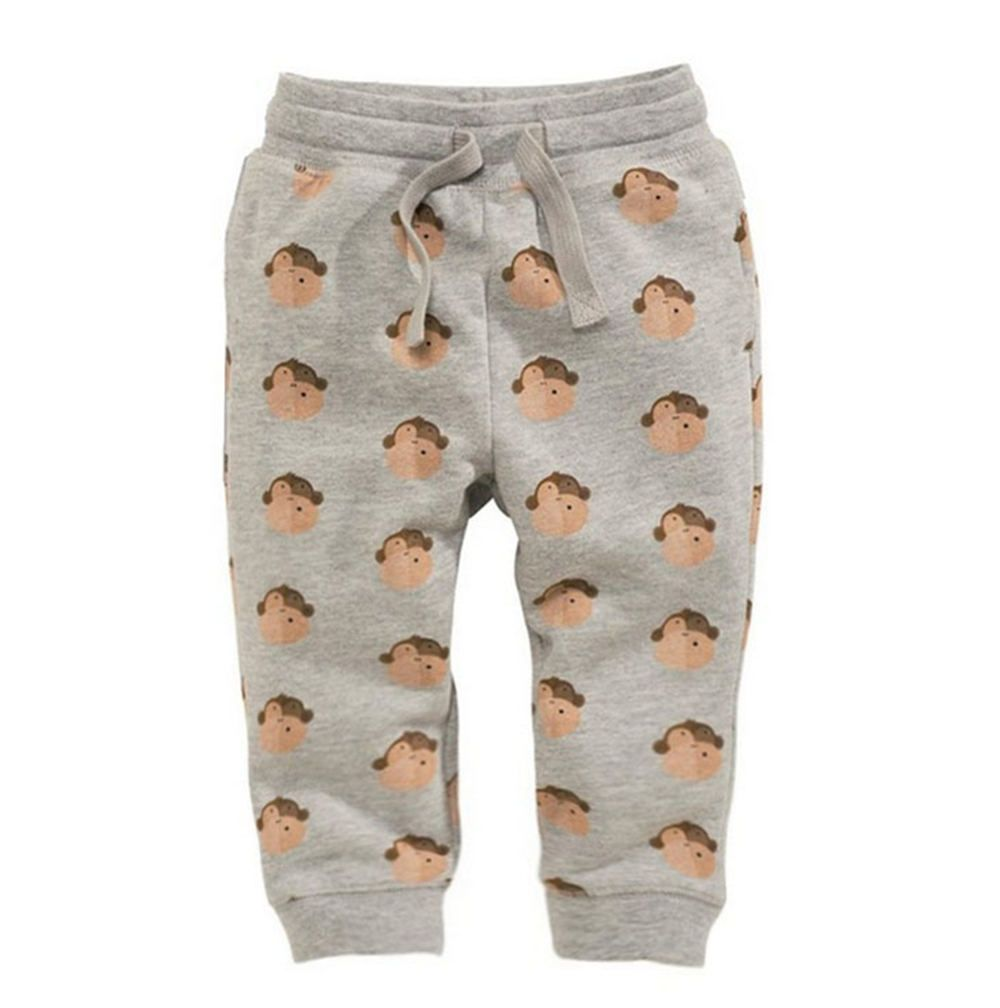 <font><b>Jumping</b></font> Meters Monkey Printed Boys Cotton Pants Children Trousers 18 Brand Autumn Winter Baby Clothes Sweaterpants Kids Leggings