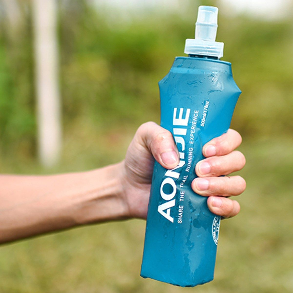 High Quality Foldable Water Bottle 250ML 500ML Blue Outdoor Sport Traveling Running Cycling Kettle Healthy Soft Camping Jug New