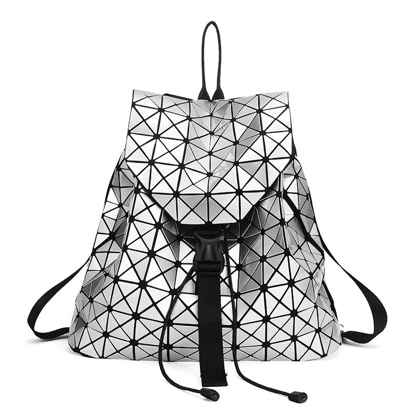Fashion Women Drawstring Backpack Diamond Lattice Geometry Quilted Ladies Backpack Sac Bag For Teenage girl 2018 School Bags
